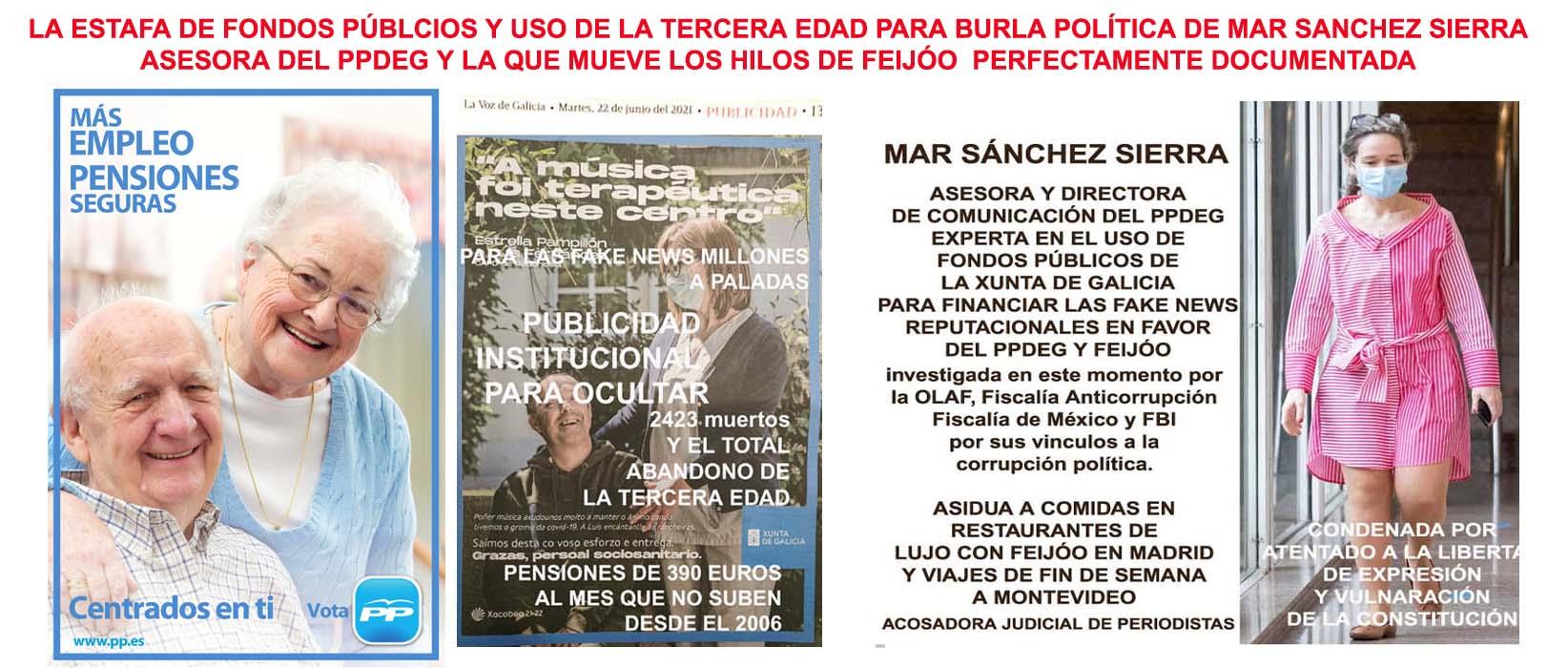 Mostramos la gran estafa y burla de Mar Sánchez Sierra utilizando los  ancianos como marketing reputacional del PPdeG con fondos públicos. - Xornal  Galicia   Xornal Galicia