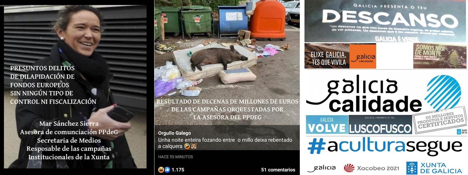 """Exitos de las campañas de Mar Sánchez Sierra """"Galicia Calidade"""", """"Galicia  te espera"""", """"Somos Moi de Monte"""", etc...Dilapidación de Fondos Europeos sin  ningún tipo de control. - Xornal Galicia"""