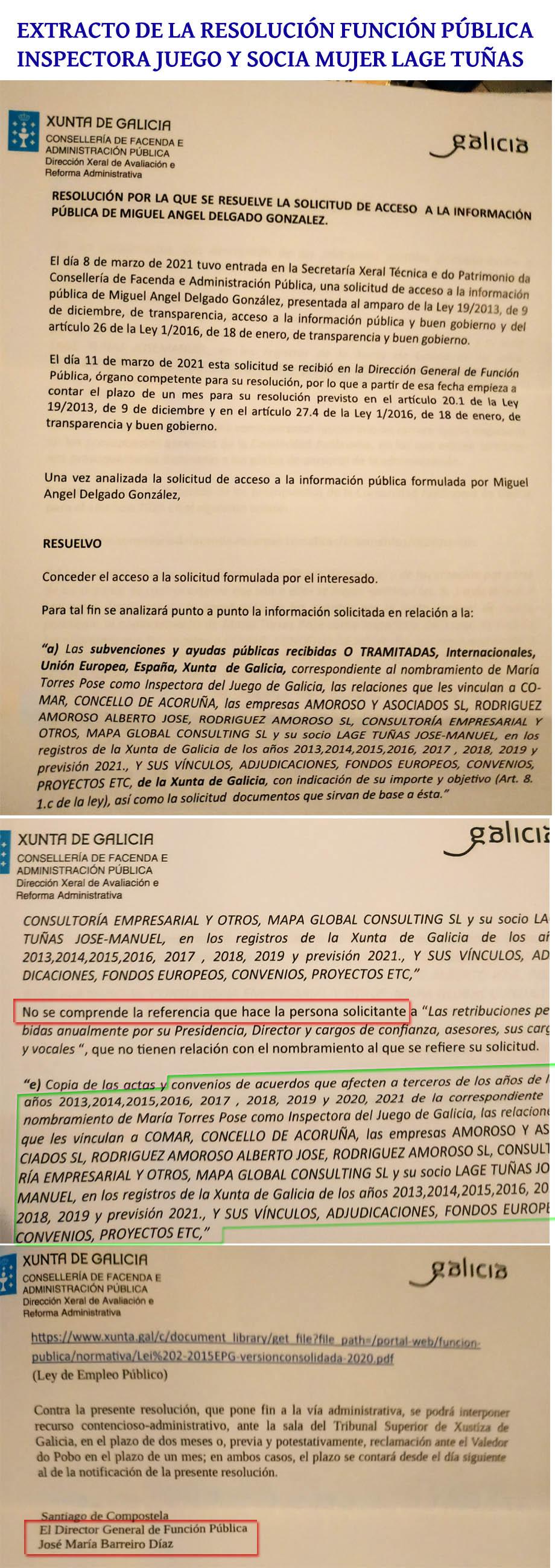 EXTRACTO RESOLUCION INSPECTORA JUEGO Y SOCIA MUJER LAGETUNAS