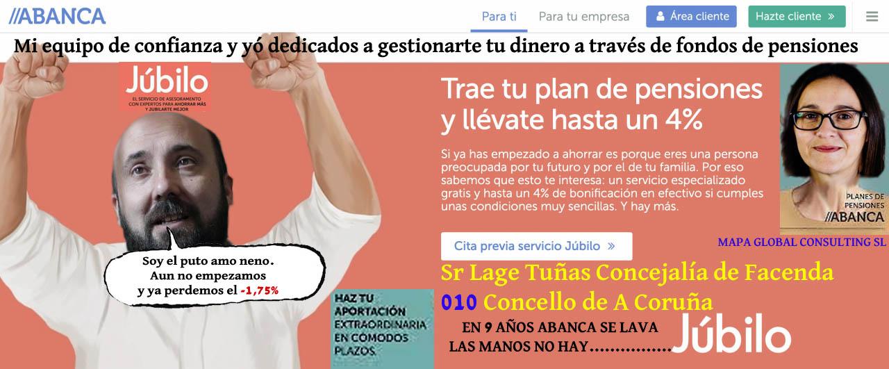 Siguen aumentando las pérdidas de pensiones Júbilo que gestiona Lage Tuñas.  - Xornal Galicia   Xornal Galicia