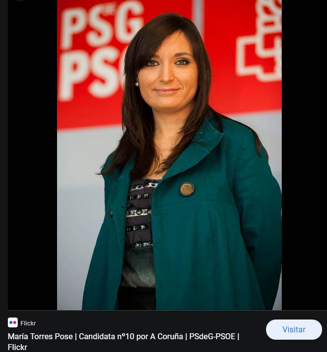 María Torres Pose Abogada y Candidata n 10 PSdeG Coruna LageTunas