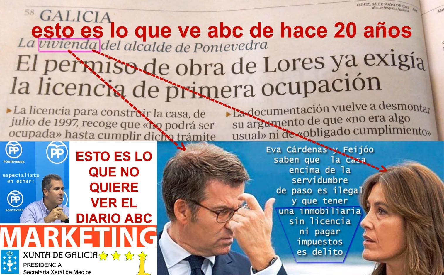 El Portavoz del PP de Pontevedra exige la dimisión de Feijóo por obras  ilegales en terreno público y falta de licencias empresa de su domicilio  conyugal.. En Clave de Humor..! - Xornal