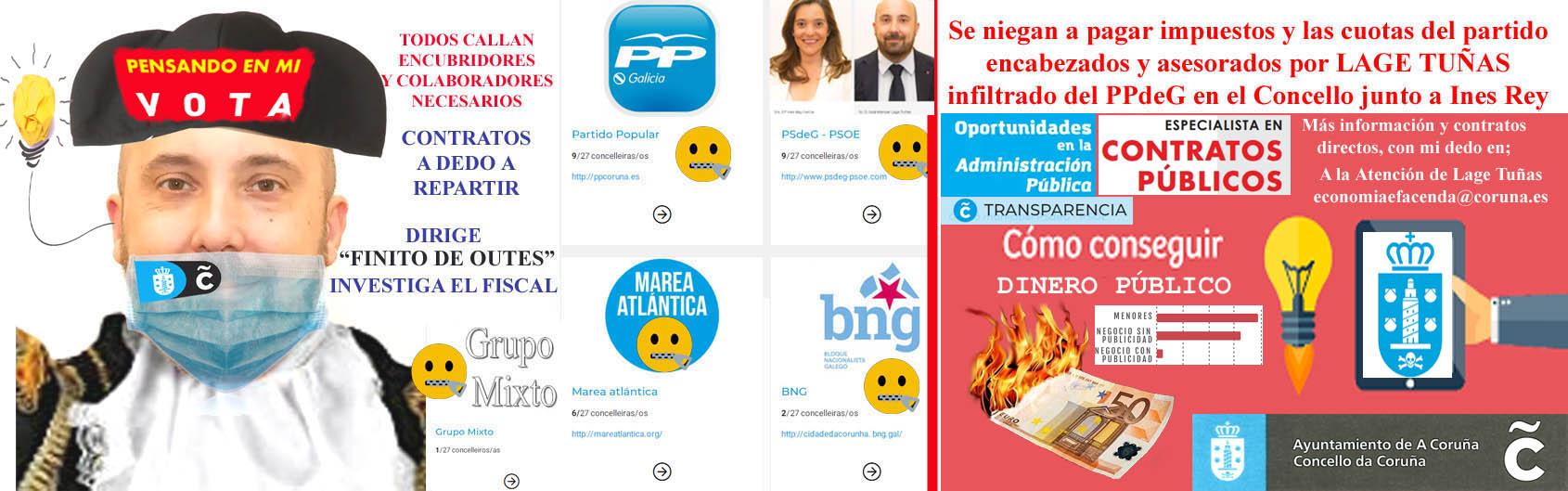 Ines Rey sigue sin explicar la adjudicación de publicidad en la Voz de  Galicia para lograr entrevistas a dos páginas llenas de FAKE NEWS mediando  familiar mujer de Lage Tuñas. - Xornal