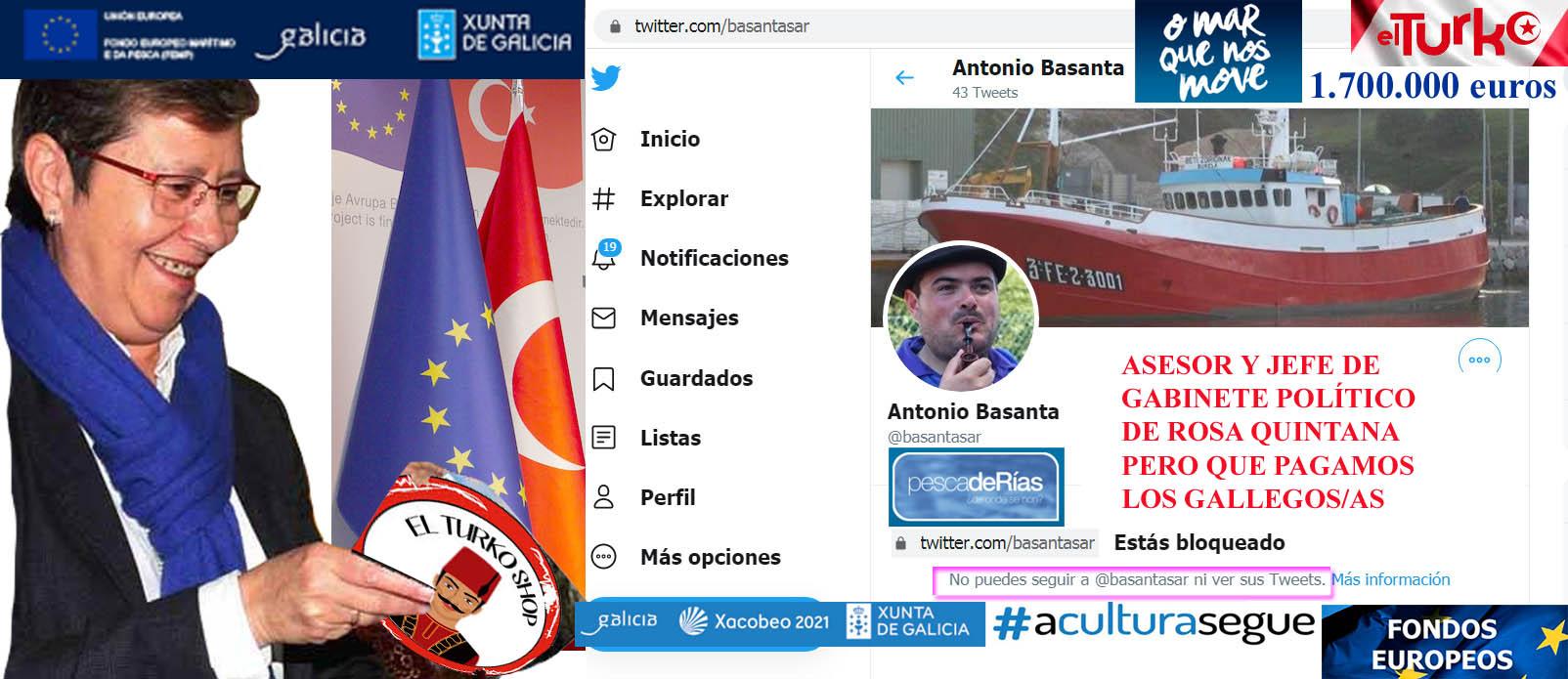 Galicia ya no pinta nada en Europa y le prohíben la entrada a Rosa Quintana,  tras las informaciones sobre fondos europeos del AINE, Antonio Basanta y el  Sahara publicadas por Xornal Galicia. -