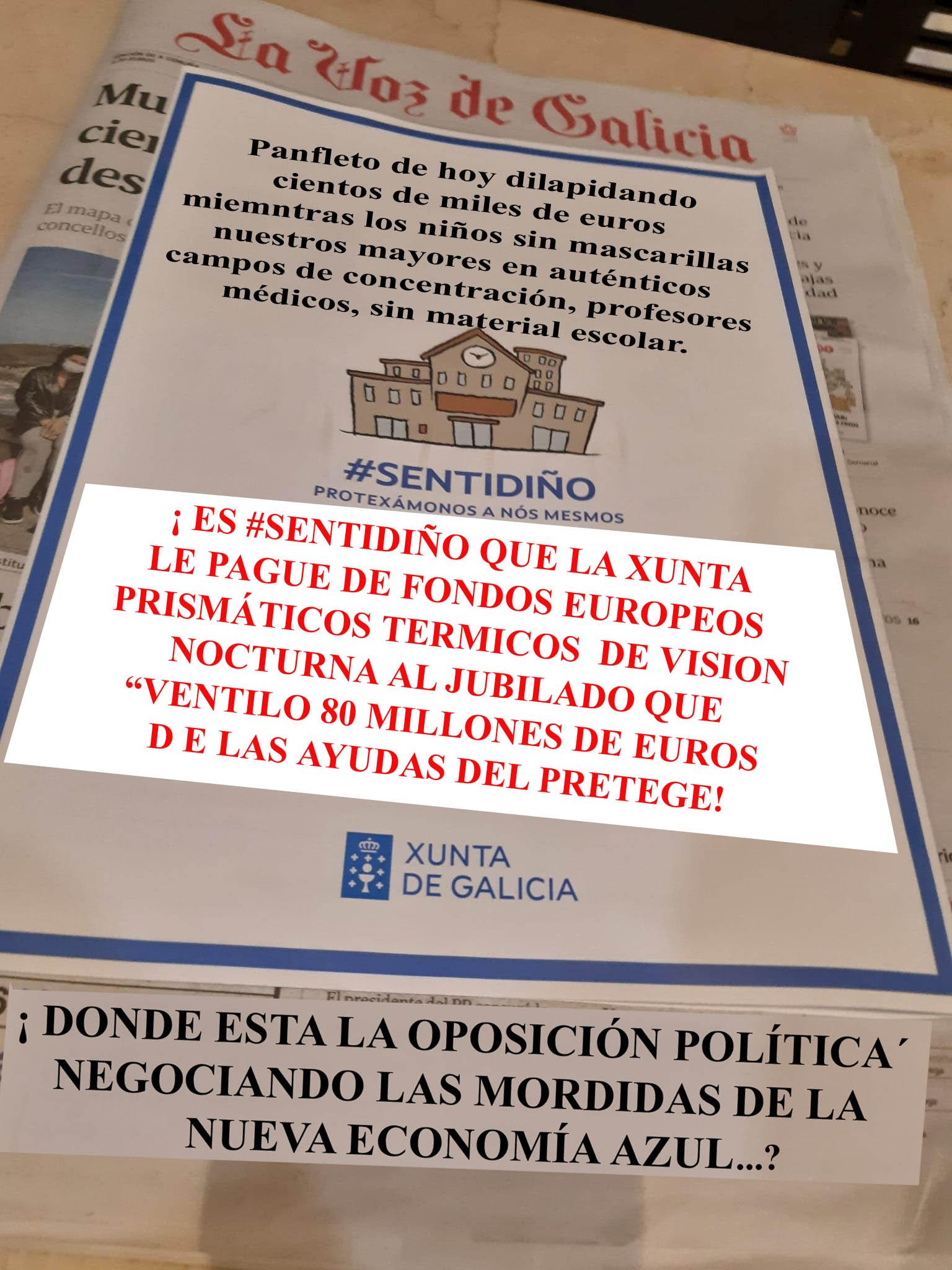 María del Mar Sigue dilapidando millones de euros en FAKE NEWS #sentidiño  para tapar los prismáticos térmicos de visión nocturna al jubilado de  Caión. - Xornal Galicia