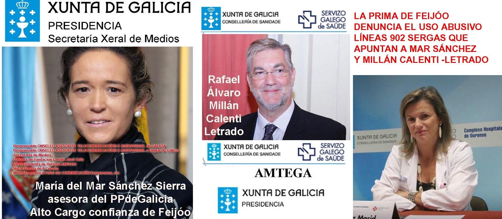 La Fiscalía Antocorrupción insta a la Fiscalía de Galicia a investigar las líneas  902 que anuncia Mar Sánchez Sierra y el Sergas con la autorización de  Millán Calenti. - Xornal Galicia