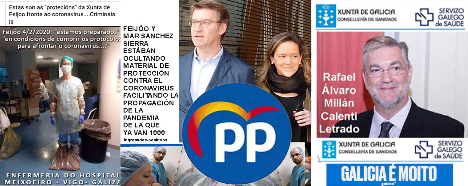 Feijóo y Mar Sánchez Sierra están ocultando material de prevención del  coronavirus para facilitar el contagio y aumento de positivos en la tercera  edad y personal del Sergas. - Xornal Galicia