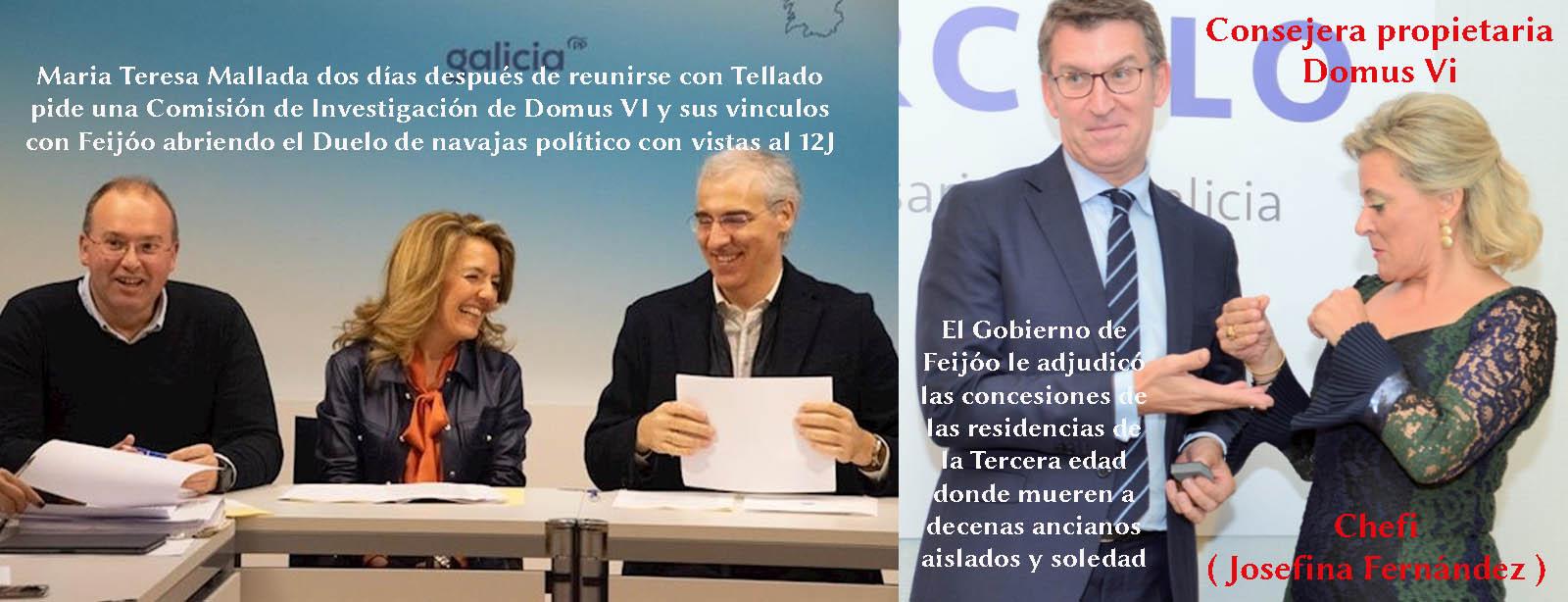 El historial de Teresa Mallada-Miguel Tellado no es el mejor aval para  investigar a Feijóo, Chefi y las residencias DOOMUS VI y sus fallecidos. -  Xornal Galicia