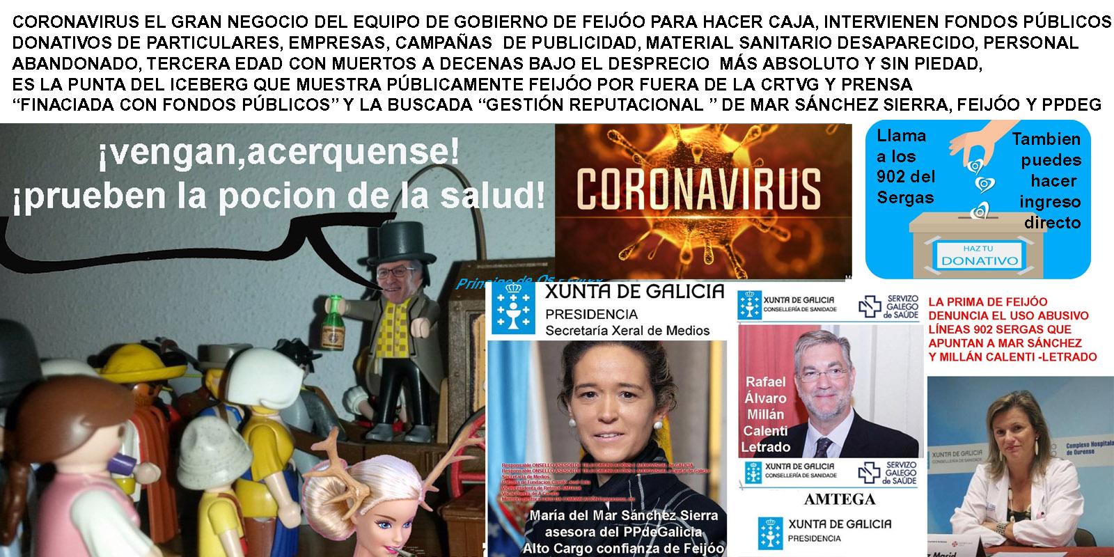 Asesora PPdeG en la Xunta, Mar Sánchez Sierra sigue sin hacer públicos los  donativos que pedía en todos los medios de comunicación en nombre del  Covid19. ¡ preguntamos, estarán en las OFF