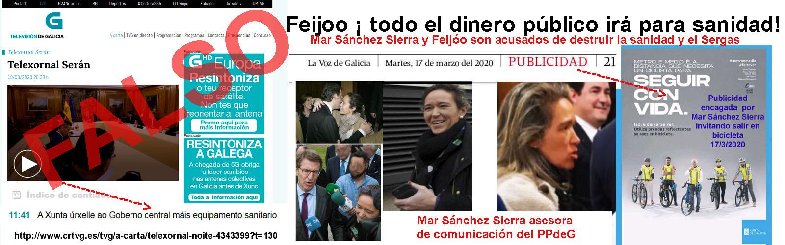 Los peores enemigos para frenar la PANDEMIA DEL CORONA VIRUS son Feijóo, Mar  Sánchez Sierra y el editor de la Voz de Galicia dedicados a llevarse el  dinero de las arcas públicas