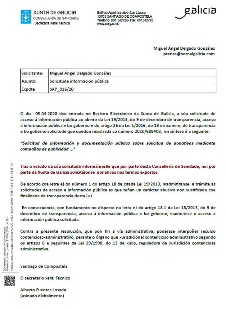 Exclusiva; El Gobierno de Feijóo esta blanqueando dinero de donativos  anónimos mediante 4 cuentas bancarias justificadas en el coronavirus que  niega su existencia el Sergas. - Xornal Galicia