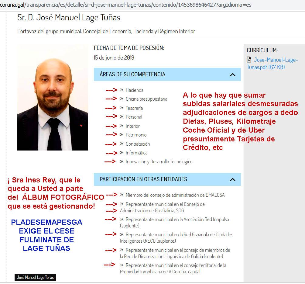 """Los """"traidores al PSdeG"""" ya estan descubiertos, encabeza el grupo Valentin  Formoso exigiendo el iva que reclama Feijóo, Ines Rey y Bugallo, junto a  los ediles defraudadores de impuestos liderados por Lage"""