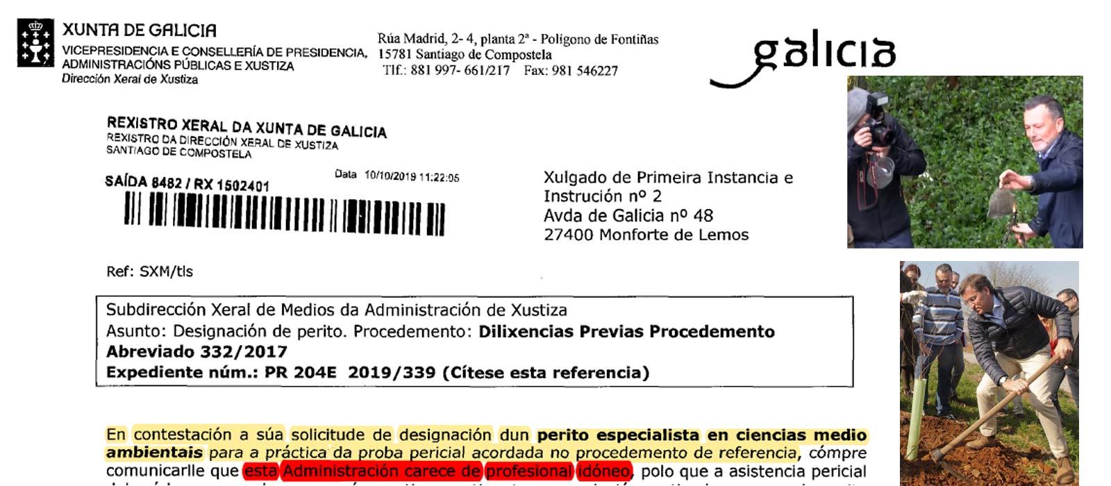 EXCLUSIVA: El Gobierno del PPdeG en la Xunta reconoce en documento público  que no dispone de profesionales para controlar el Medio Ambiente ni la  contaminación, solo existen para cursos y masteres privados. -
