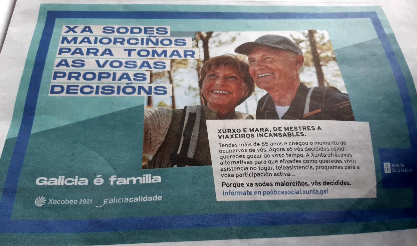 María del Mar Sánchez Sierra, no solo utiliza el dinero público que precisa  la sanidad y la tercera edad, si no que se burla de todos ellos en su  publicidad. - Xornal