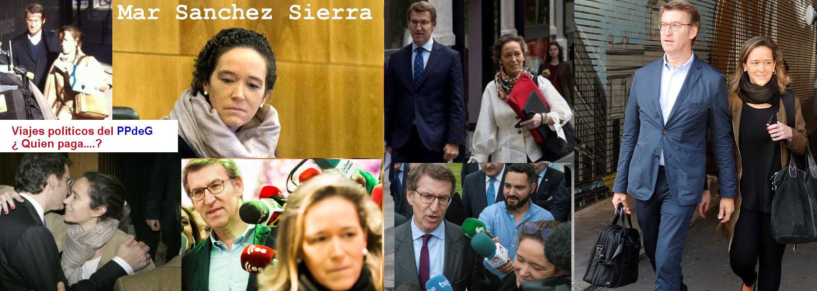 Maria del Mar Sanchez Sierra y Feijoo declinan aclarar quien les paga los Viajes Politicos a genova